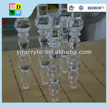 high quality acrylic table leg of luxury transparent furniture acrylic legs for furniture