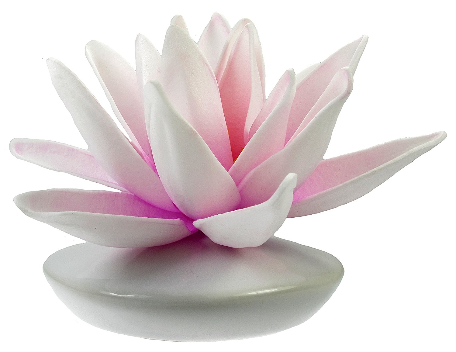 Cheap lily flower bud find lily flower bud deals on line at alibaba get quotations artificial water lily foam flower with a white ceramic bud vase white izmirmasajfo