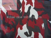150D Red Camouflage Polyester Oxford Fabric For Tent