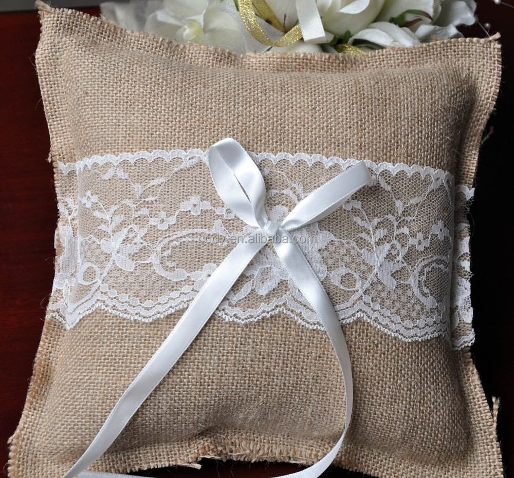 once ring wedding pillow wed diy moss tufted