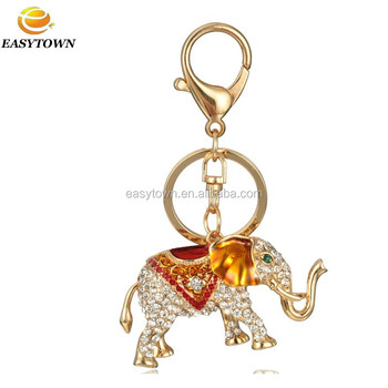 2015 Custom Metal Latest Wholesale Keychains Rhinestone Elephant ...