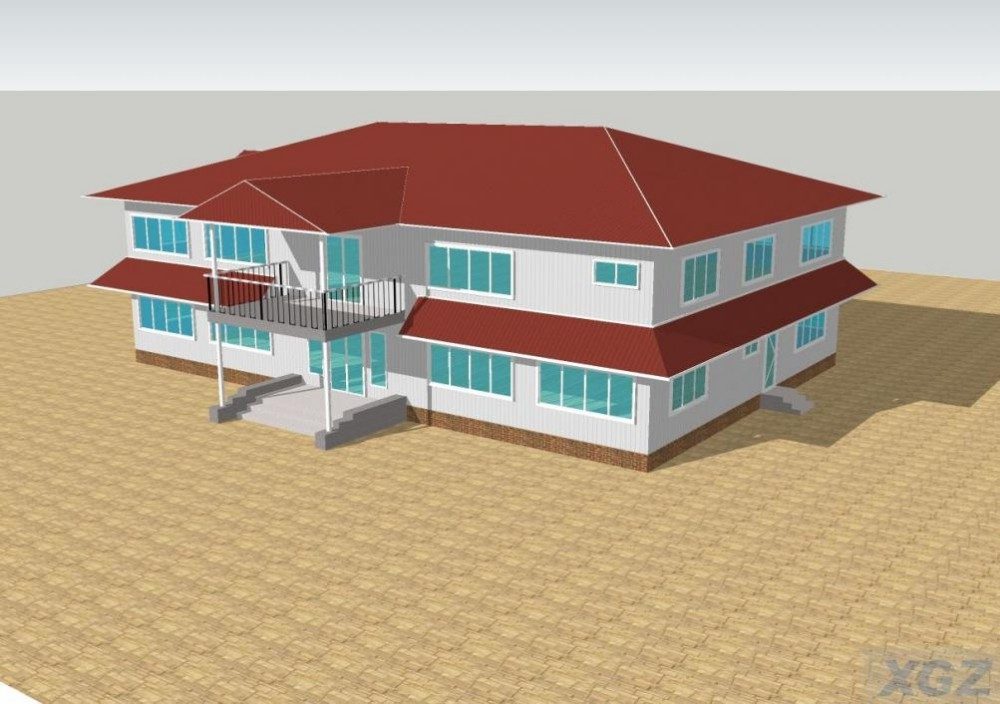 two storey office building