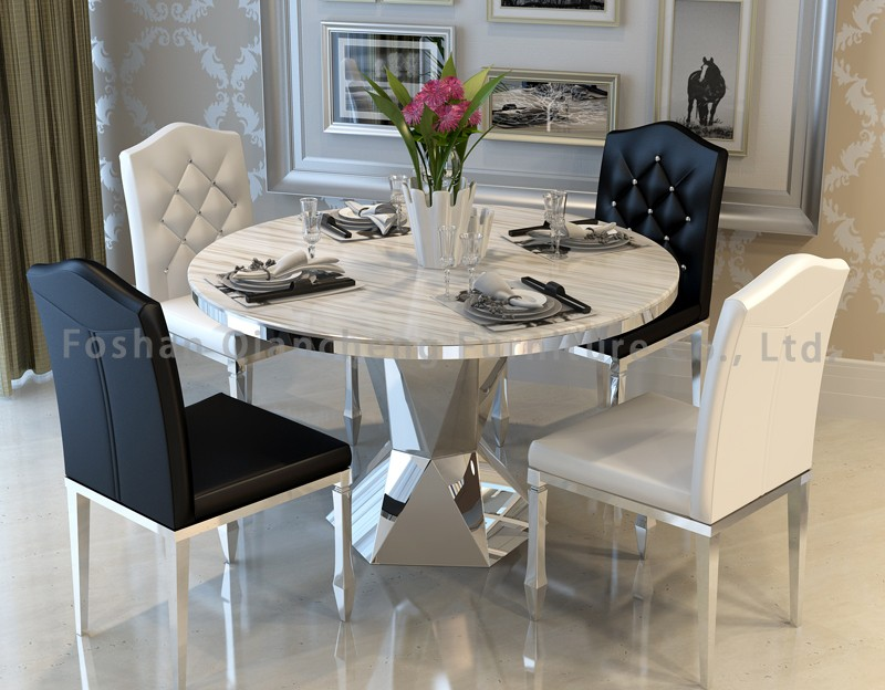 Luxury Granite Top 48 Inch Round Dining Table With