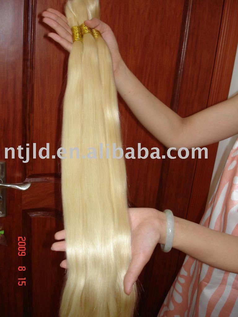 Human Hair / 613# Remy Human Hair-blond Hair / Grade Aaa