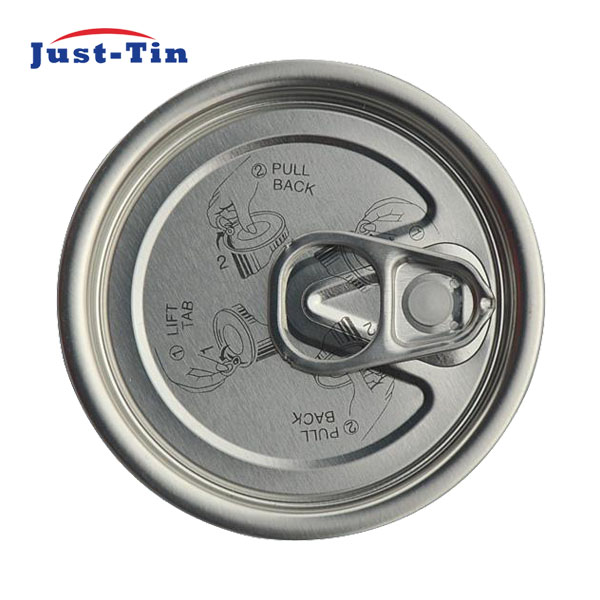Y211S 65.3mm tinplate easy open canning lids wholesale