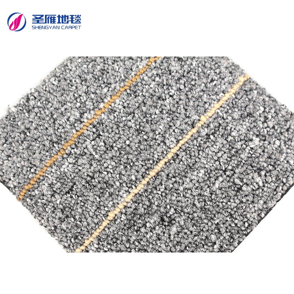Asphalt Backing Waterproof Carpet Tiles Water Resistant