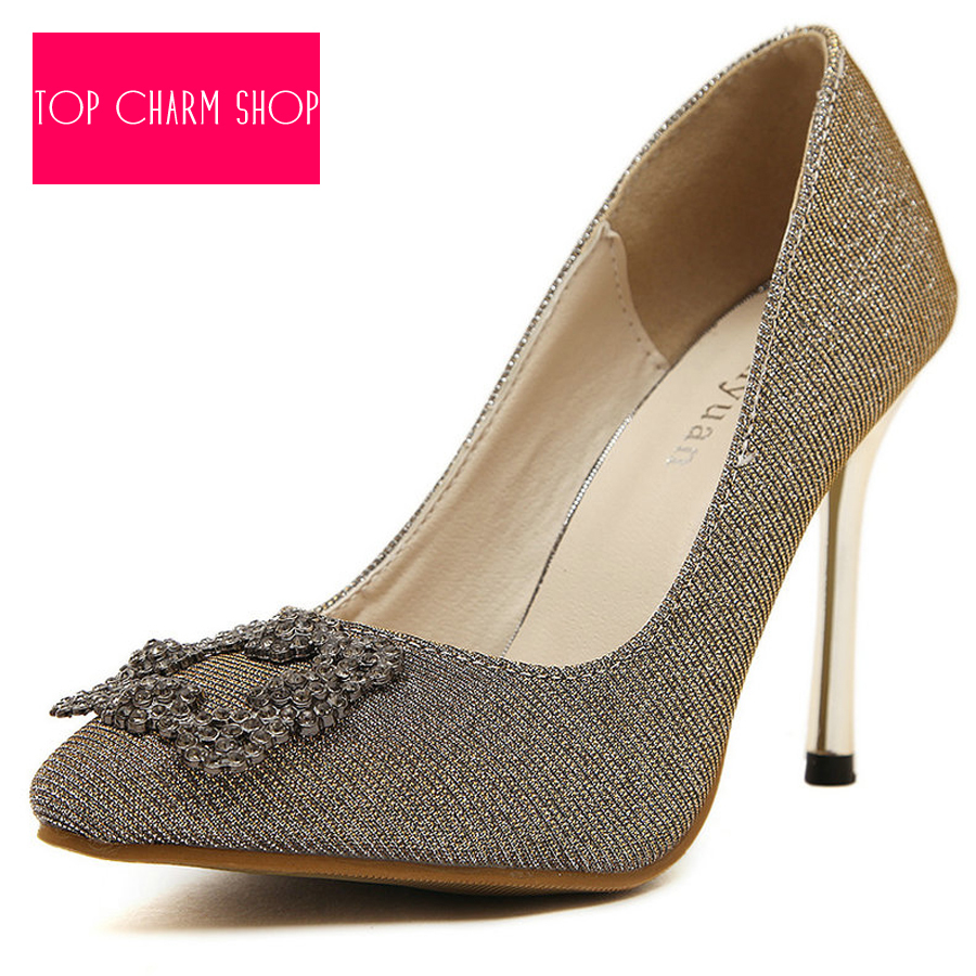 511e1f060d20ab Hot Sale Women Pumps Sexy Sequins Pointed Toe High Heels Shoes Woman 2015  Brand New Design Wedding Party Shoes Free Shipping