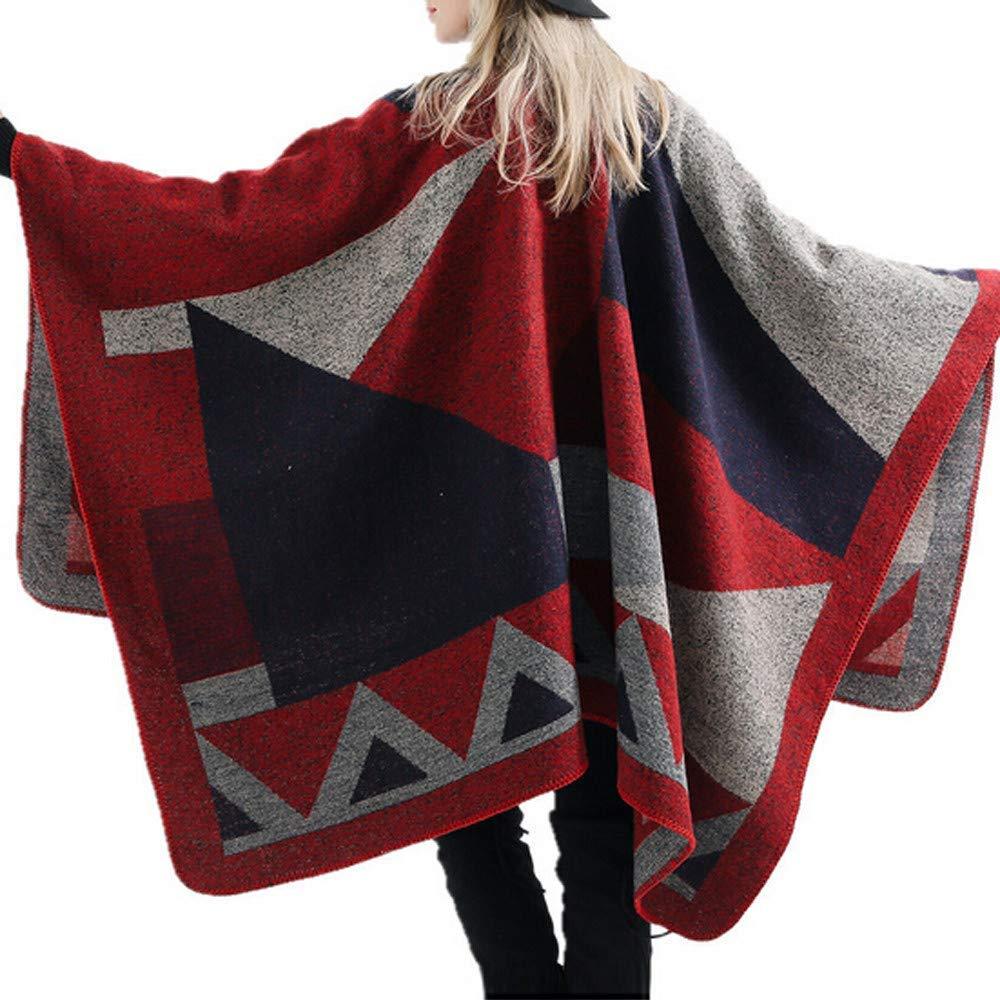 Women Fashion Warm Plaid Shawl Scarf Sleep Blanket Reversible Oversized Tartan Cozy Casual Long Large Wrap Capes Coat