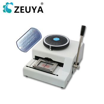 Manual 52 Characters Pet Identification Card Metal Dog Tag Embossing Machine