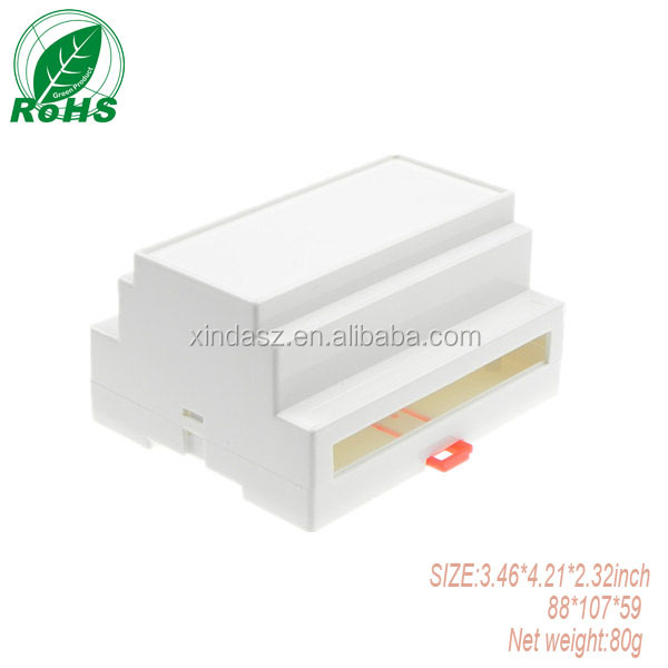 Sealed Plastic Din Rail Enclosure 107*88*59mm Terminal Case PCB Project Box