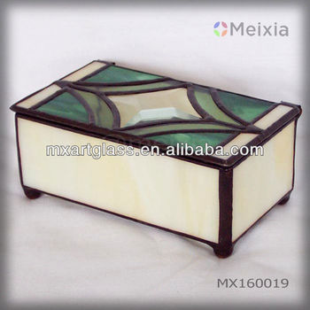 MX160019 custom wholesale stained glass jewelry box for promotion gift sets