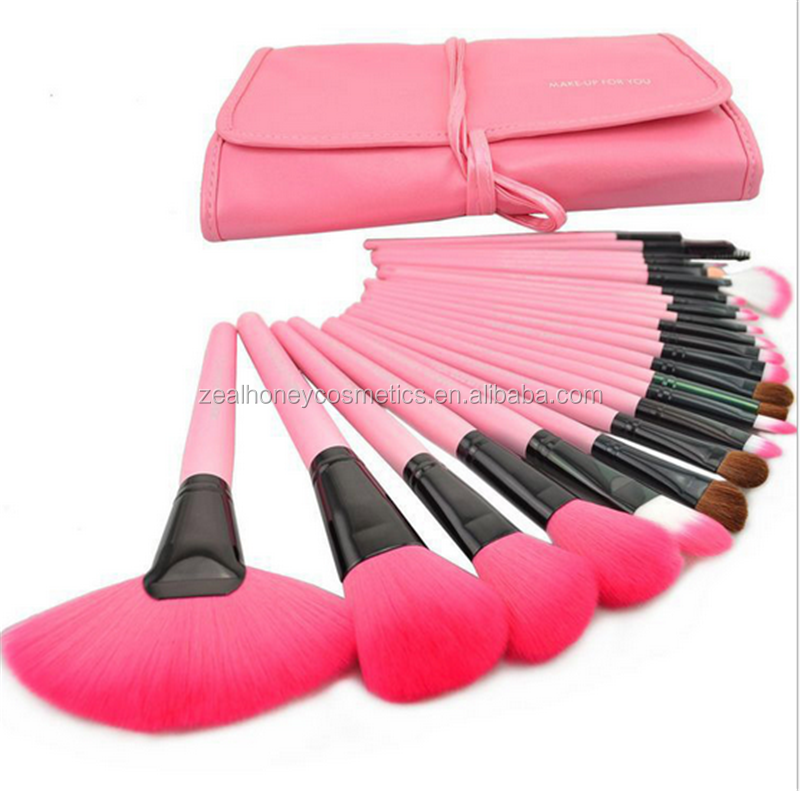 Zealhoney Amazon Hot Sale 24 pcs makeup brush cosmetic Custom Logo Makeup Brushes Set