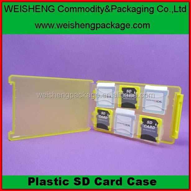 New arrival different style various colors SD card plastic case/sd memory card plastic case