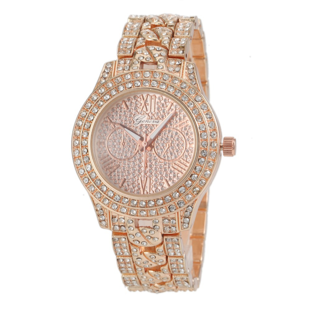 Yeah Watch!Geneva Watch New Full Diamond Fashion Design Women Watch Ladies Quartz Steel Luxury  Wristwatches Leisure Girl Watch