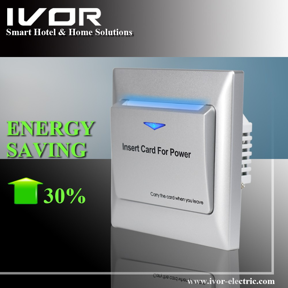 IVOR smart hotel switch key card holder electrical energy saving switch