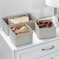 Suppling Zebra Ornament Storage Box, Set of 3 fancy storage drawer organizer with cardboard