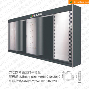three sides sliding ceramic tiles showroom display racks stands/metal frame tiles display stands CT023