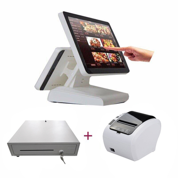 android /windows New products POS terminal /Cash Register with card reader/15 Inch epos system