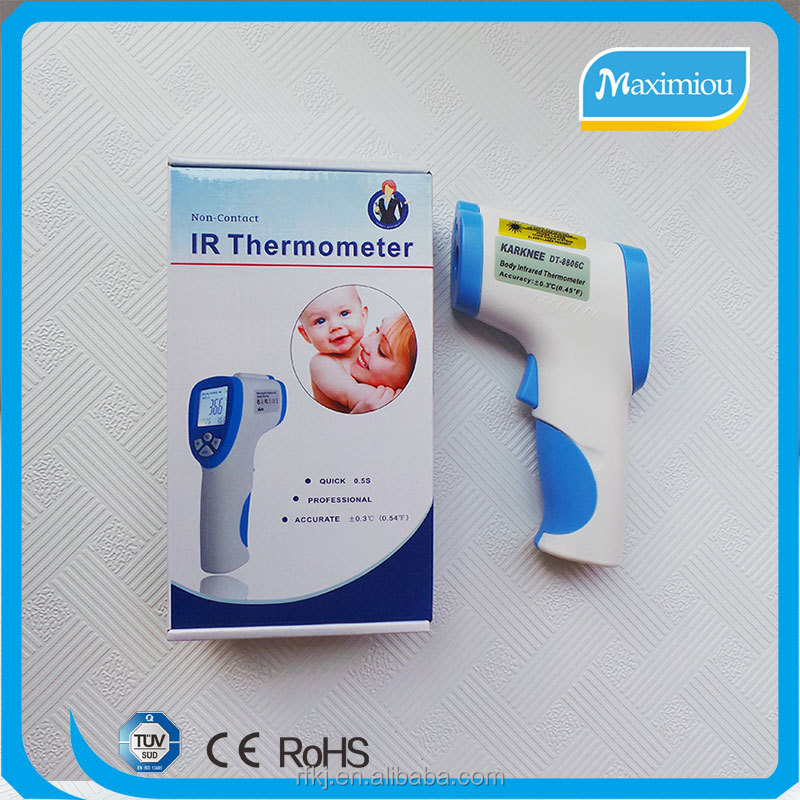 Custom Non-contact Infrared IR Digital Clinical Thermometer with Backlight