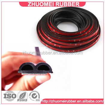 B Shape Car Rubber Seal Strip For Car Noise Insulation