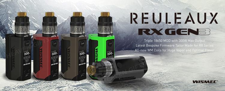 Wismec Reuleaux Rx Gen3 300w Box Mod Vape Kit With 2ml/ 4ml Gnome Tank -  Buy Wismec Wholesale,Vape Wismec,Wismec Reuleaux Rx Gen3 Product on