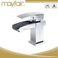 Contemporary copper fitting basin mixer tap