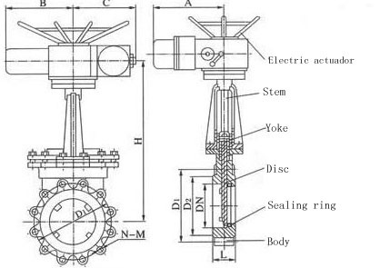 Knife Gate Valve Stem Gate Valve Drawing Buy Gate Valve
