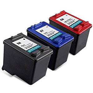 Printronic Remanufactured Ink Cartridge Replacement for HP 56 57 58 C6656AN C6657AN C6658AN (1 Black 1 Color 1 Photo Color) 3 Pack
