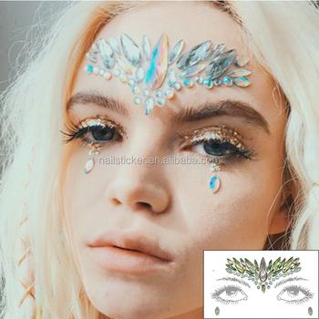 Fancy Custom Iridescence Rhinestone Crystal Gezicht Tattoo Sticker Buy Gypsy Shrinegypsy Shrinegypsy Shrine Product On Alibabacom