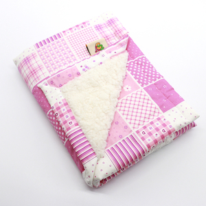 New Coming Warm and Breathable Sherpa Baby Blanket with Patchwork Design