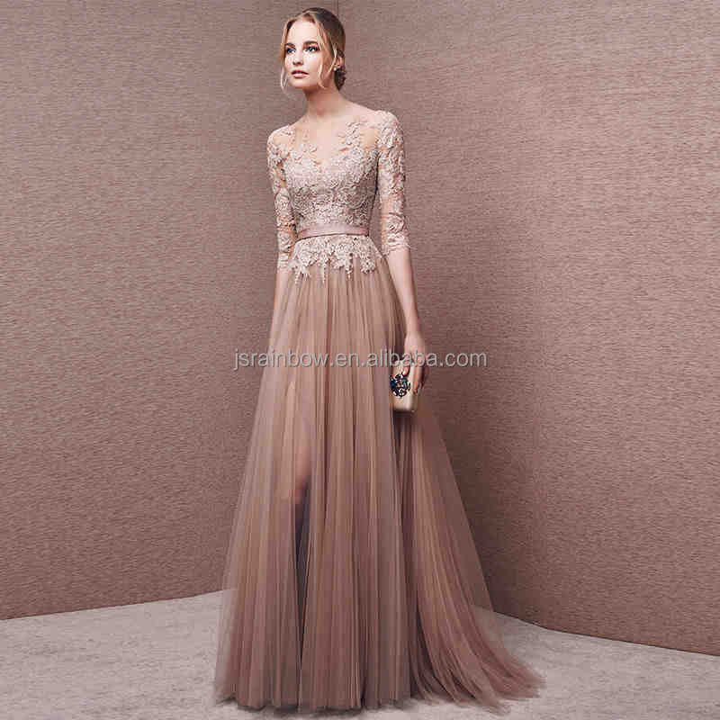 2017 Wholesale Women Sexy Backless Long Evening Dress