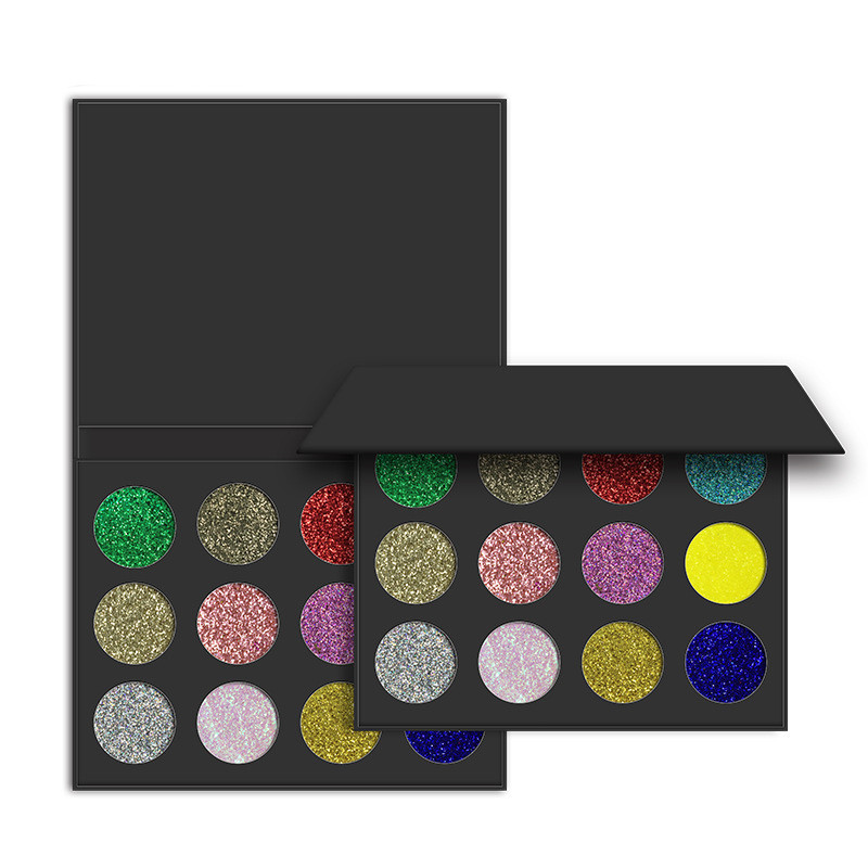 2017 Newest 12Color Glitter eyeshadow Palette Eyeshadow with OEM 12 color Eyeshadow Palette