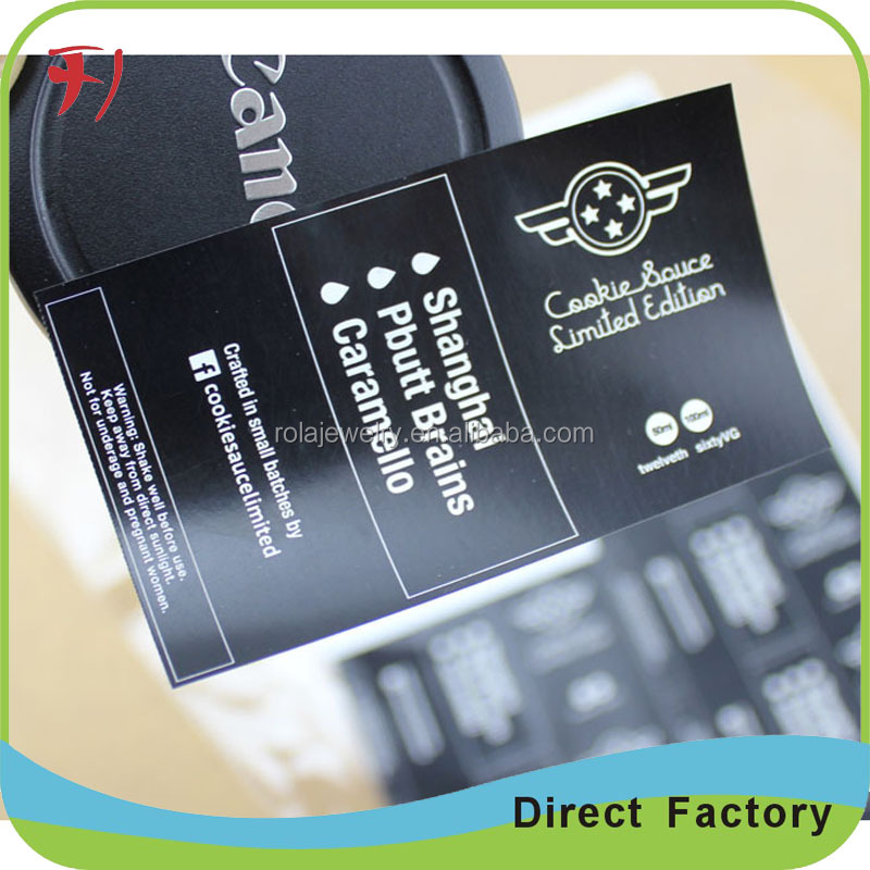 Logo printed high glossy coated paper sticker adheisve printing barcode label