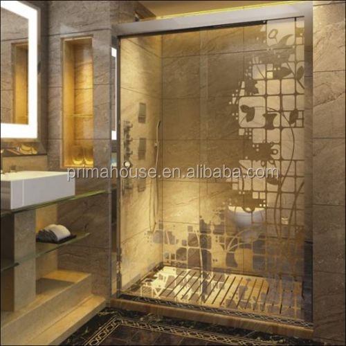claro templado de vidrio cabina de ducha de alta calidad de bao de lujo