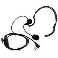 New 2 Pin Earpiece Mic PTT Headset for Kenwood BAOFENG Radios UV-5R 777 888s TK-208 TK-220 TK-240 HYT PUXING