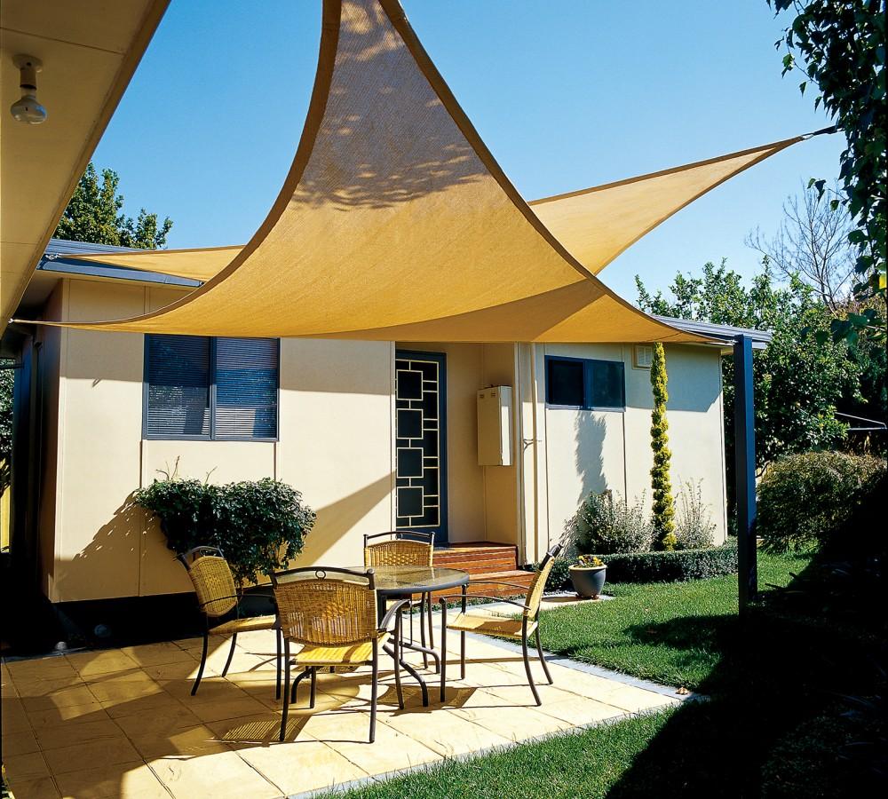 16ft X 16ft Rectangle Desert Sand Sun Sail Shade Durable Woven Outdoor Patio  Fabric W/