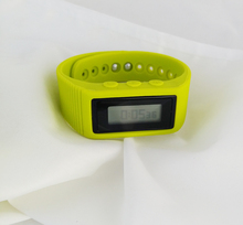 Wristband walking distance calorie counter