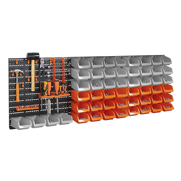 30pc Wall Mount DIY Panel Garage Shelving Storage Bin Rack Set Organiser