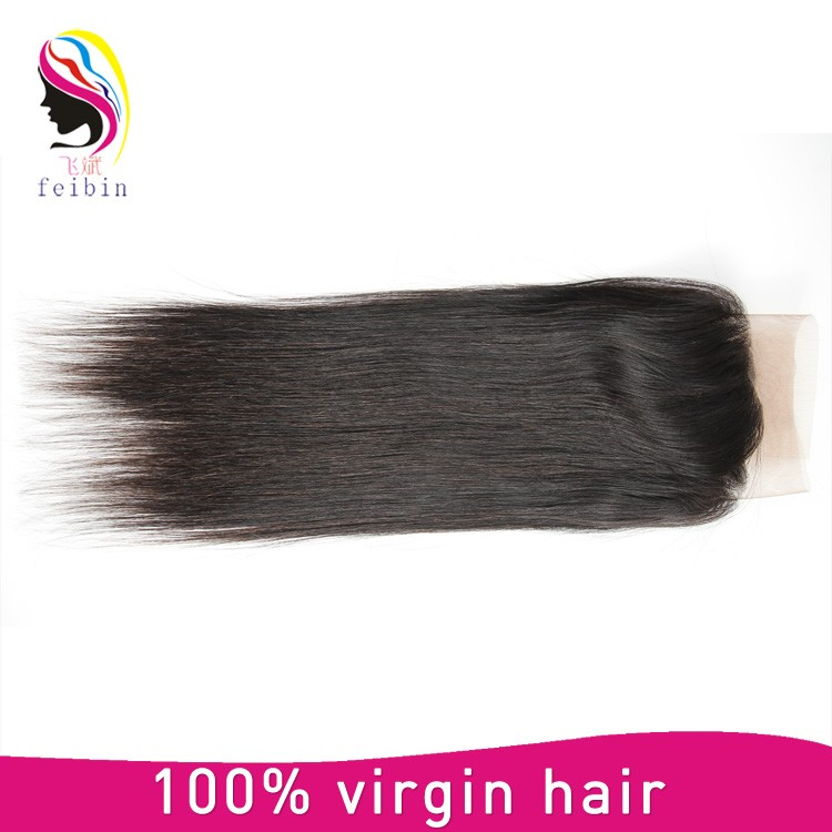 Best straight lace closure unprocessed human virgin Brazilian hair closure