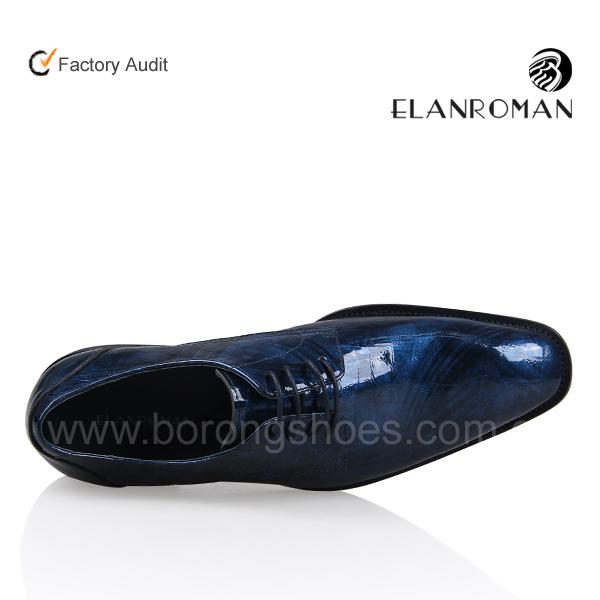 polished for fashion style men oxford shoes dress genuine blue leather New aPtqxW7RwW