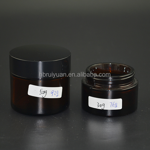 5ml 30g Amber Cosmetic Glass Concentrate Screw Top Jars Medicine Lid Balm Makeup Oil Containers
