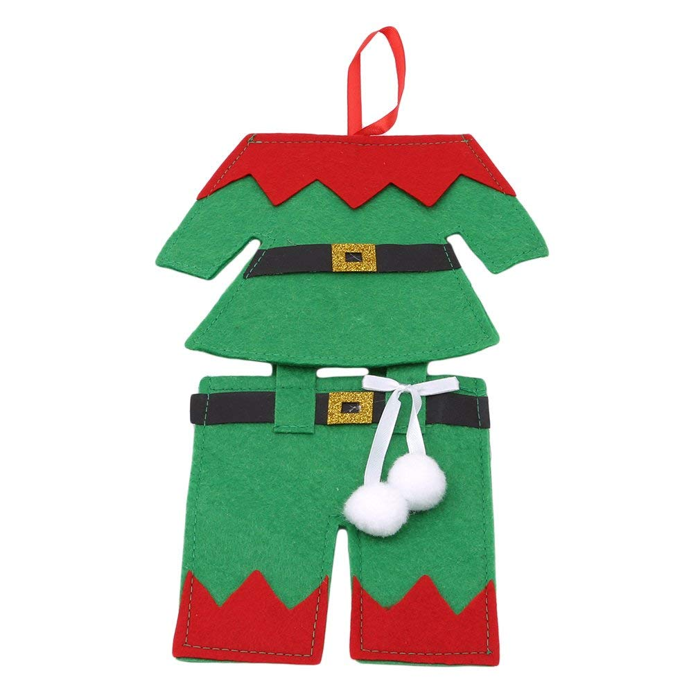 Dolland Knife and Fork Bags Table Decoration,Christmas Dinner Table Decoration Santa Suit