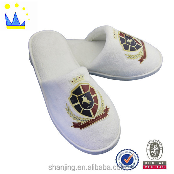 EVA custom hotel slipper cheap white terry eco-friendly slipper