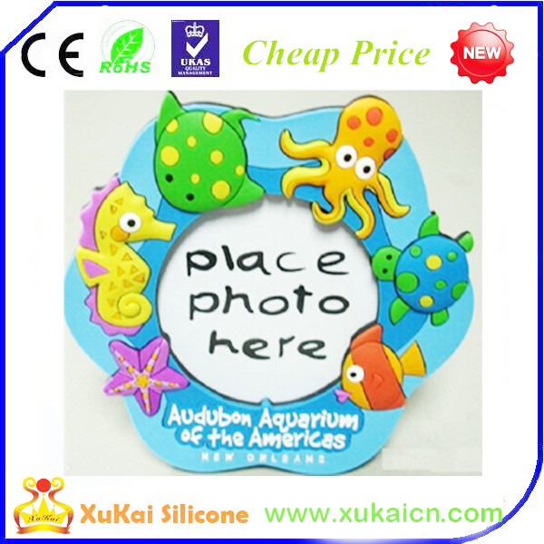 silicone photo frame with Lovely cartoon characters and colorful designs