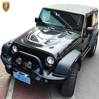 Perfect fitment carbon fiber hood for jeep wrangler auto body part