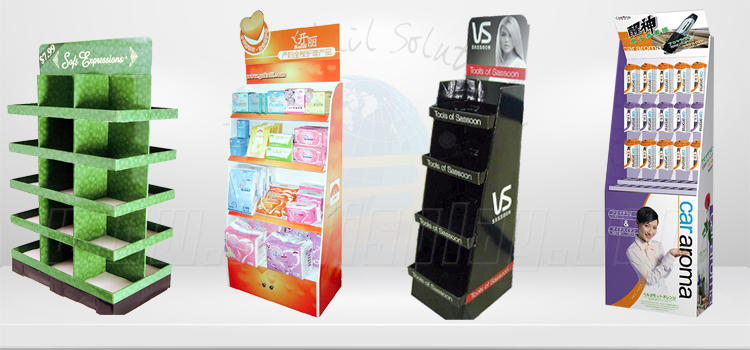Leader Display Bio Protein Floor Stand Big Shelves