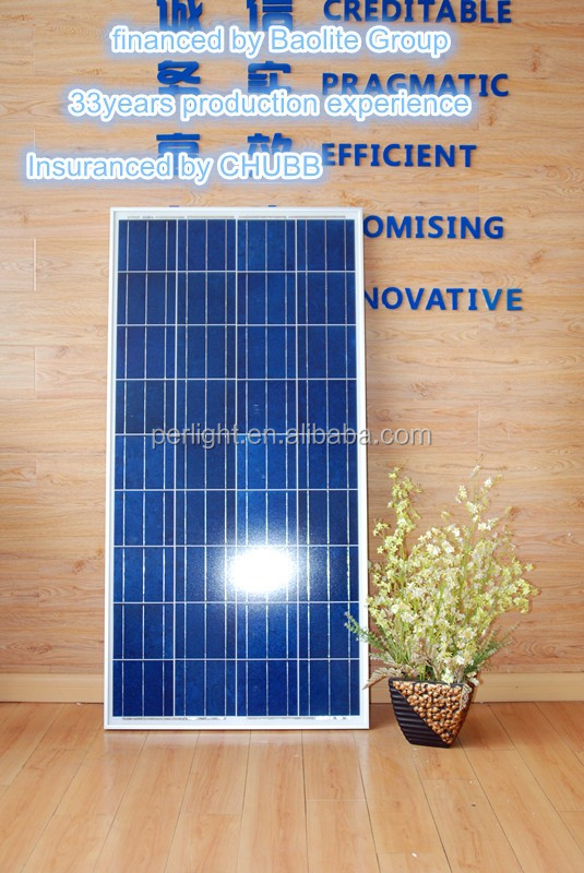 Perlight High Quality Most Efficient Concentrated Solar Panels Poly 100w 18v