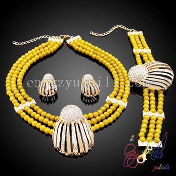 Women African Traditional Jewelry Set Coral Beads Jewellery Arabic