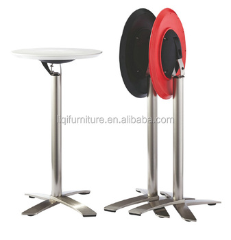 High Top Tail And Bar Tables With Foldable Abs Table Aluminum Leg Lq