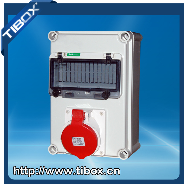 Tibox Plastic Electrical Socket Box Industrial Socket U0026plug